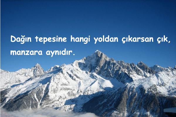 Dağ İle İlgili Güzel Sözler