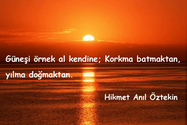 Güneş İle İlgili Güzel Sözler