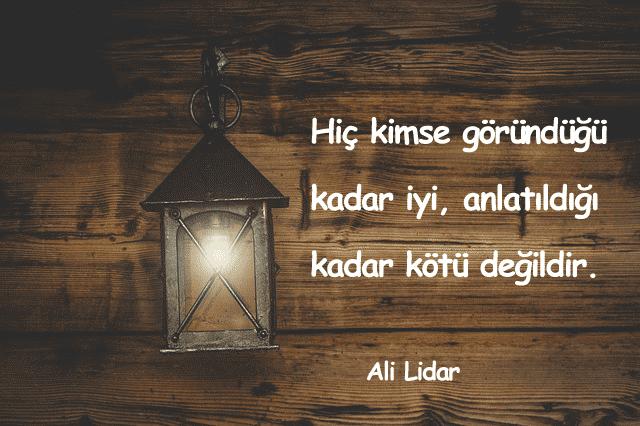 Ali Lidar Sözleri