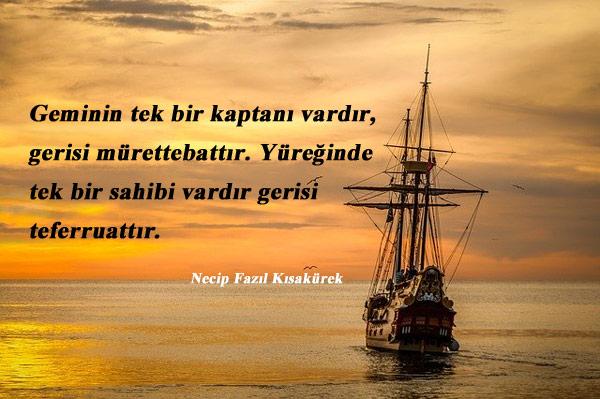 Gemi İle İlgili Sözler