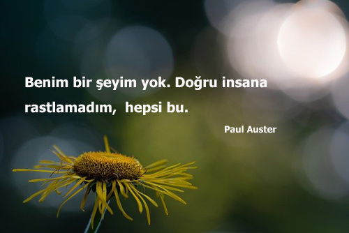 Paul Auster Sözleri